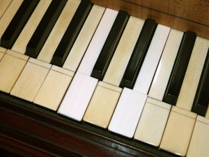 Ivory substitutes Broadwood keyboard