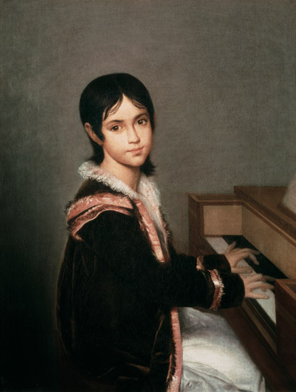 Domingos Antonio de Sequeira - The Artist's Daughter at the Piano
