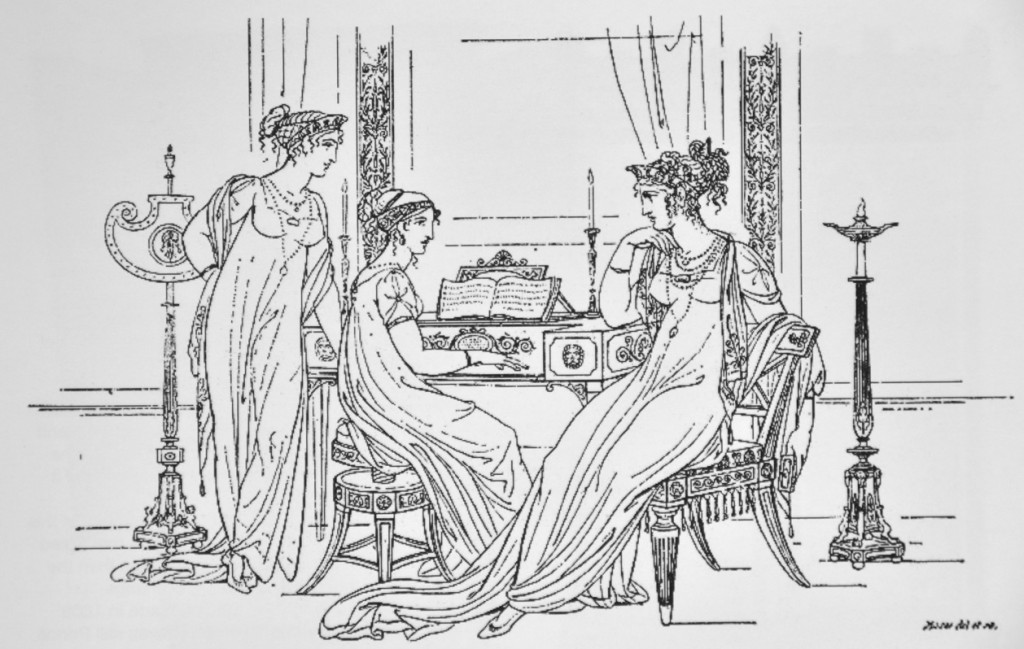 Empire ladies at piano