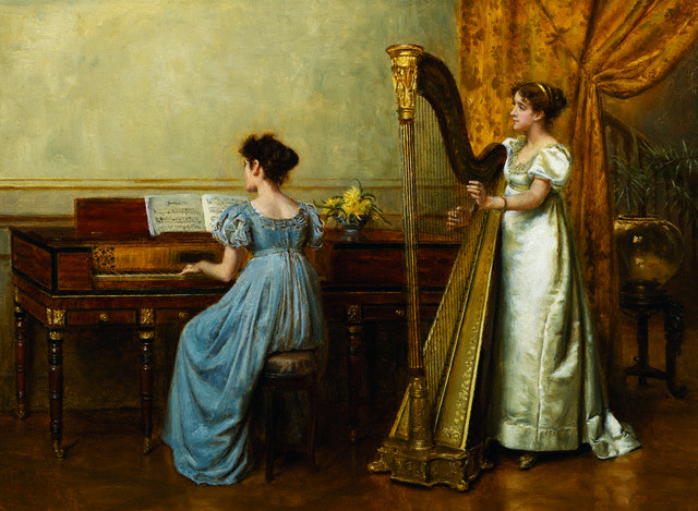 <The Duet> by George Goodwin Kilburne