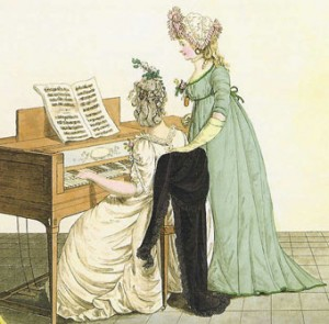 ladies at piano