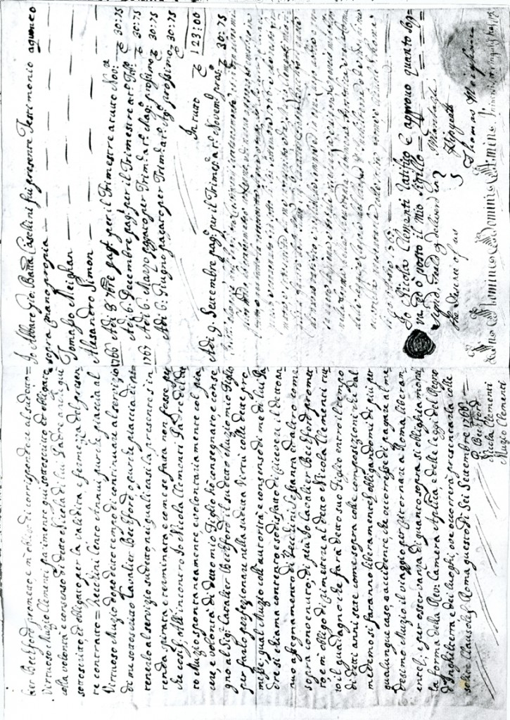 Clementi Italian adoption papers